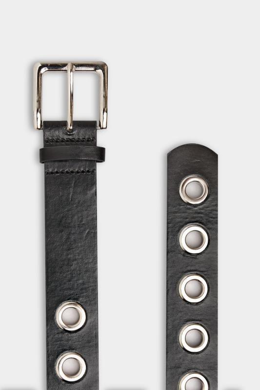Black Eyelet Belt