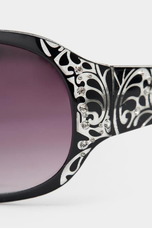 Black Filigree Sunglasses
