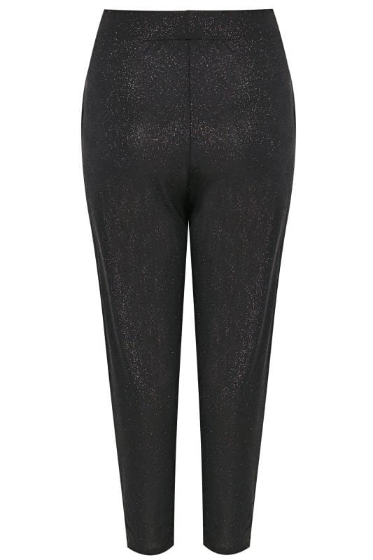 Black Glitter Harem Trousers