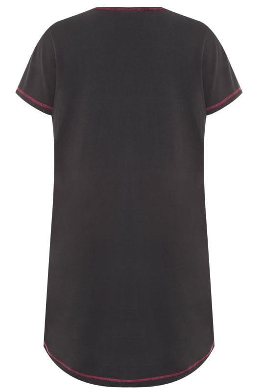 Nachthemd mit Einhorn-Motiv - Schwarz