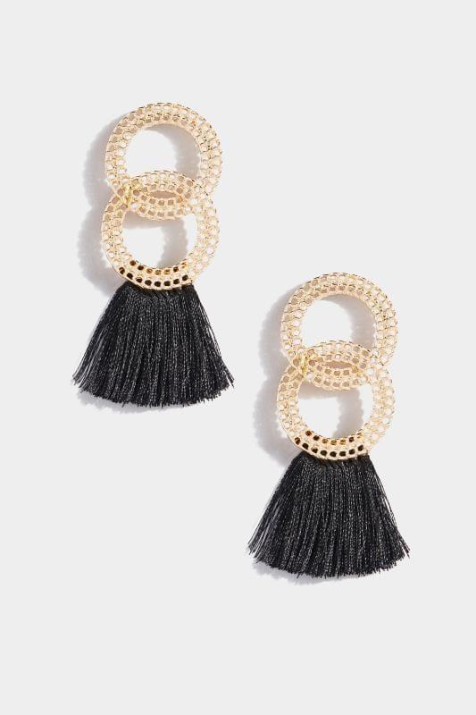 Gold & Black Tassel Earrings_5eca.jpg
