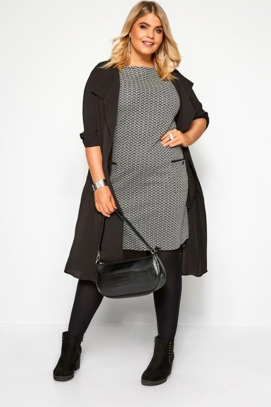 Black & Grey Patterned Tunic