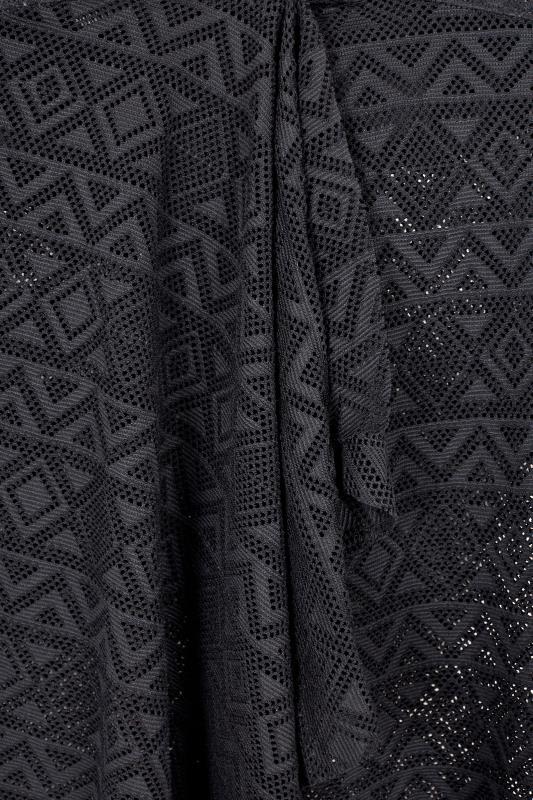 Black Halterneck Crochet Tankini Top
