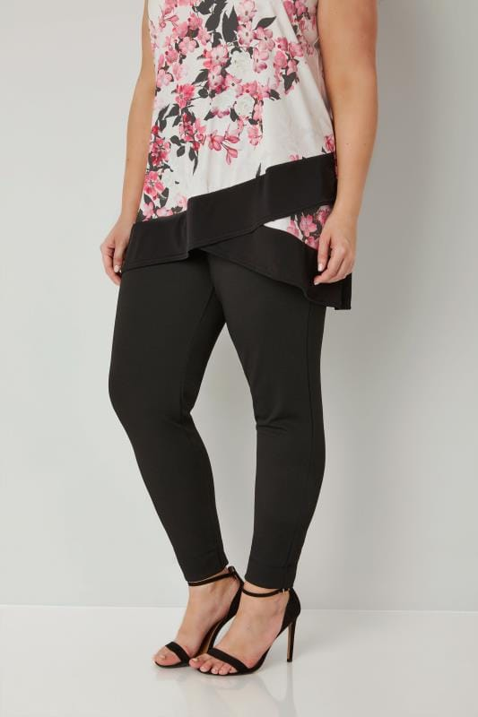 Black Harem Trousers With Elasticated Waistband