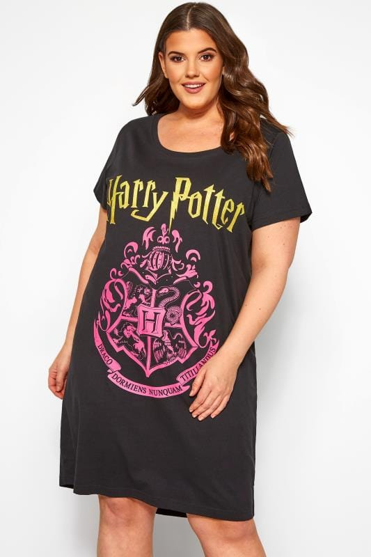 Plus Size Nightdresses & Chemises Black Harry Potter Nightdress