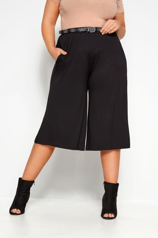 Culottes Grande Taille Black Jersey Culottes