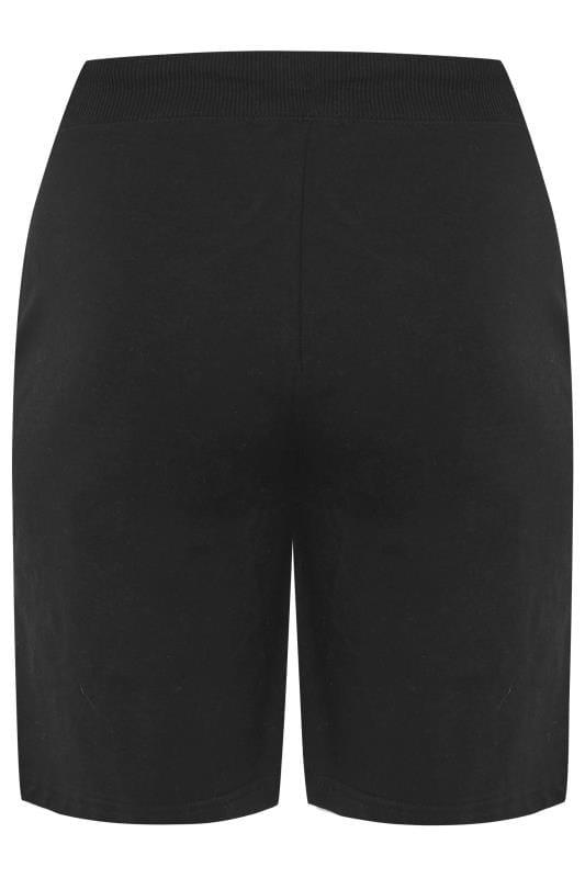 Black Jogger Shorts