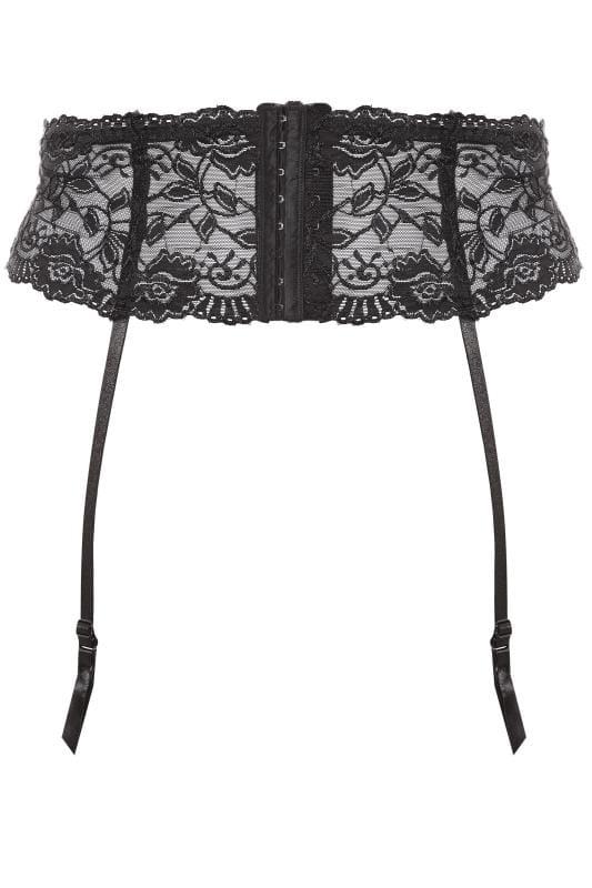 Black Lace Suspender Belt