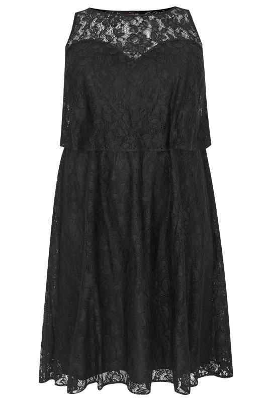 Black Layered Lace Dress