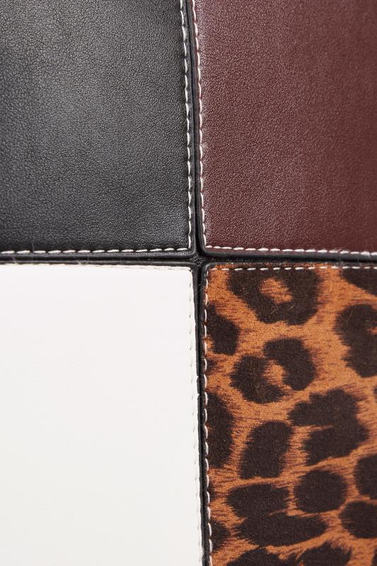 Black Leopard Patchwork Shoulder Bag