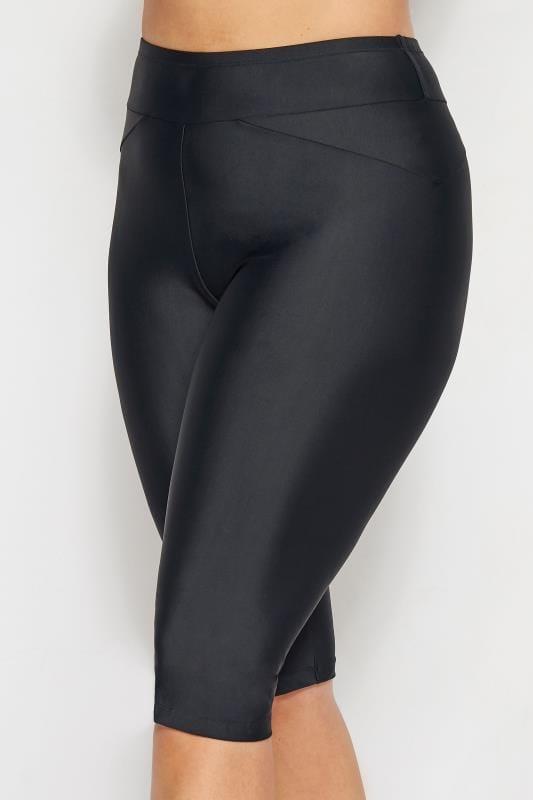 Czarne długie szorty kąpielowe
