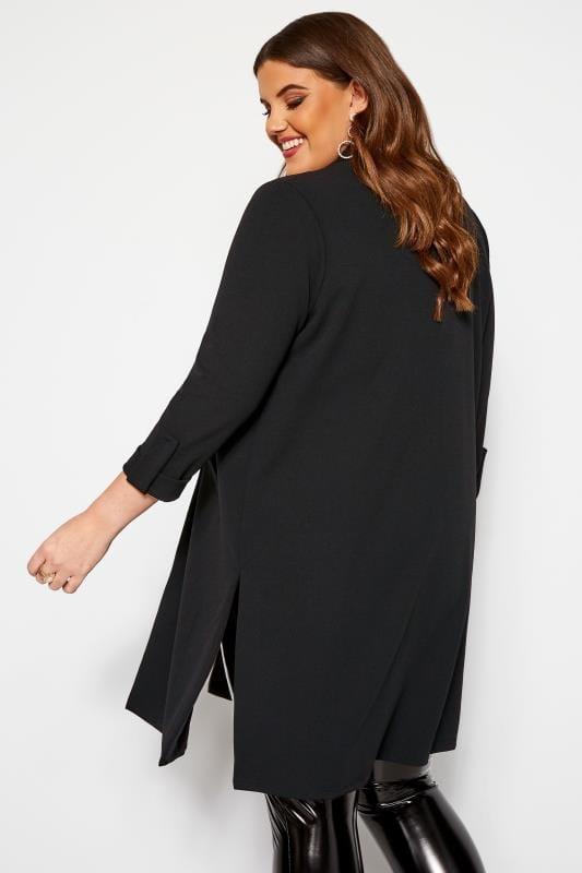 Black Longline Duster Jacket