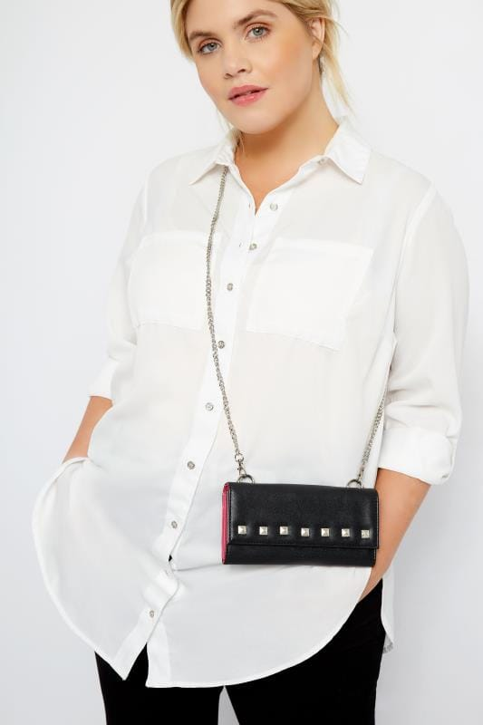 Bags & Purses Black Mini Stud Cross Body Bag