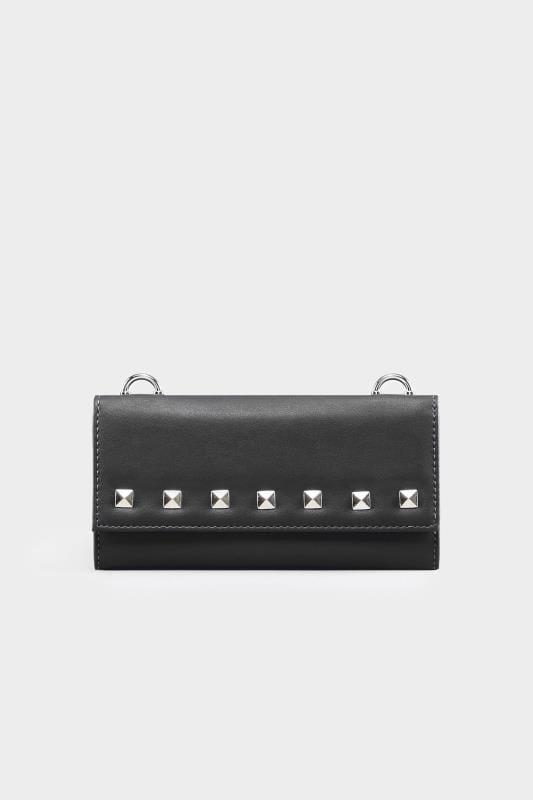 Black Mini Stud Cross Body Bag