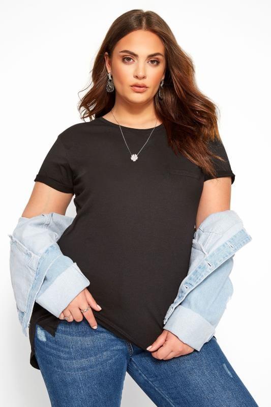 Black Mock Pocket T-Shirt