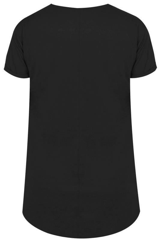 Black Mock Pocket T-Shirt