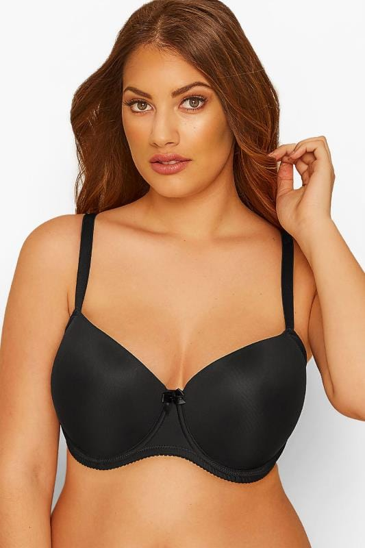 Plus Size T-Shirt Bras Grande Taille Black Moulded T-Shirt Bra - Best Seller