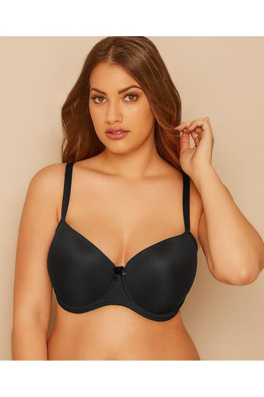 Plus-Größen Plus Size T-Shirt Bras Black Moulded T-Shirt Bra - Best Seller