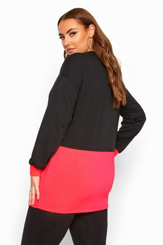 Black Neon Colour Block Sweatshirt
