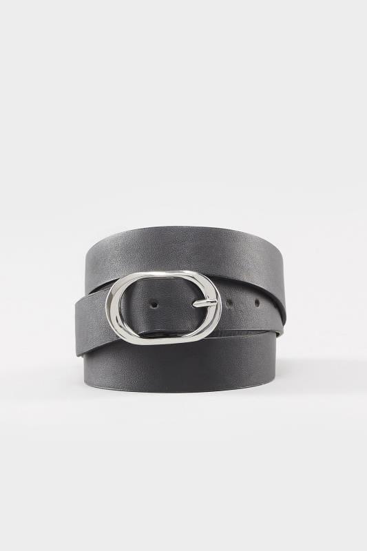 Black Oval Buckle Belt