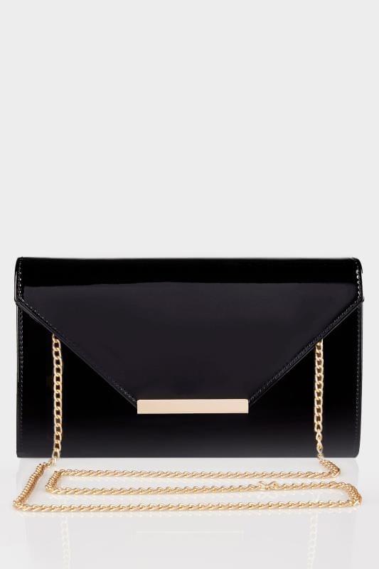Black Patent Clutch Bag With Chain Shoulder Strap_6ba3.jpg