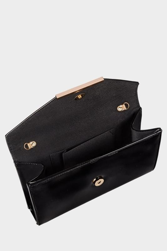 Black Patent Clutch Bag With Chain Shoulder Strap_9dff.jpg