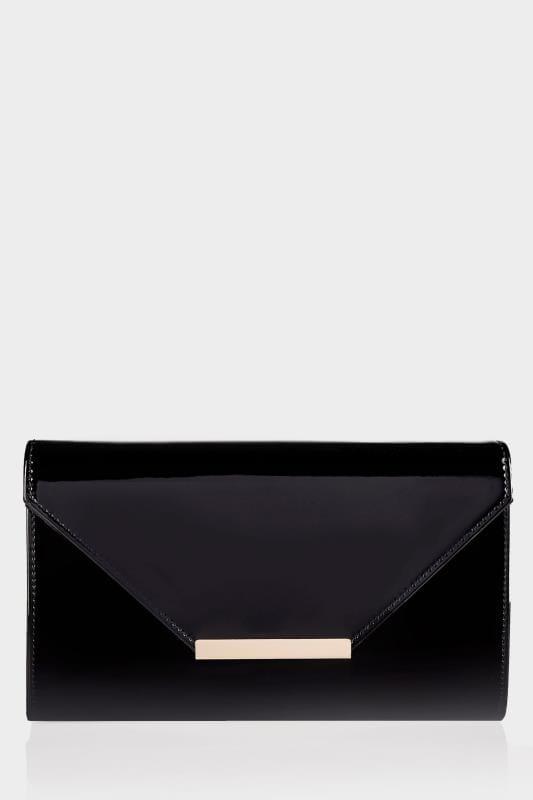 Black Patent Clutch Bag With Chain Shoulder Strap_e71b.jpg