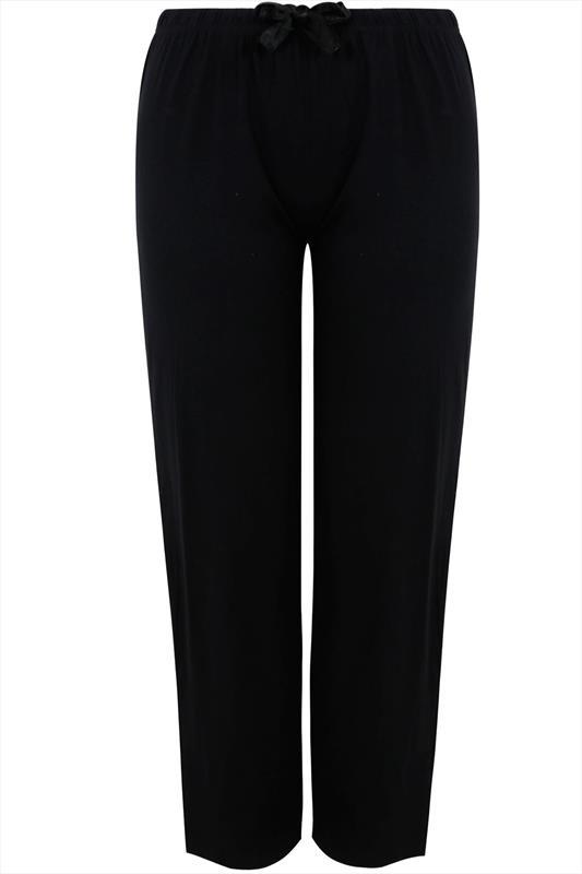 Black Basic Cotton Pyjama Bottoms