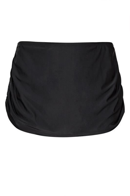 Black Ruched Side Swim Skirt