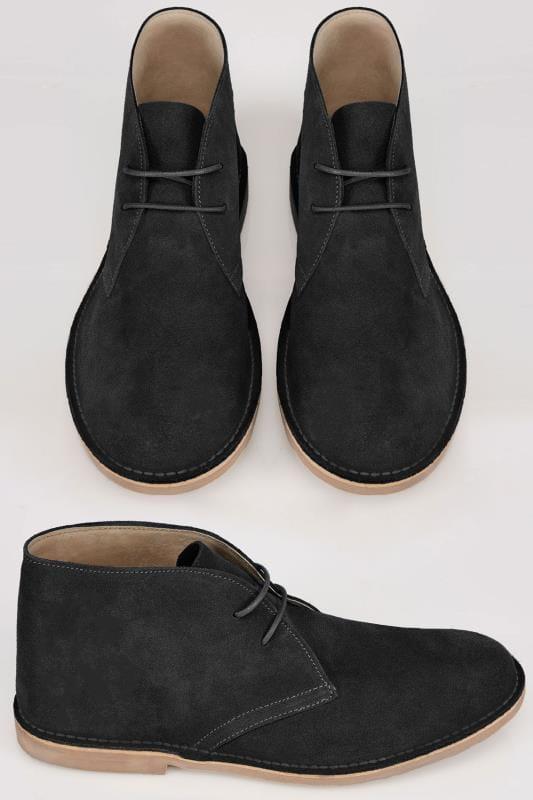 suede desert boots black Online