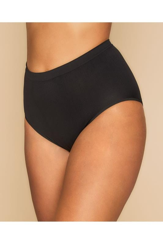 Plus Size Shapewear Black Seamless Light Control Brief