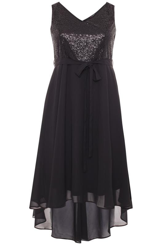 Black Sequin Embellished Dress