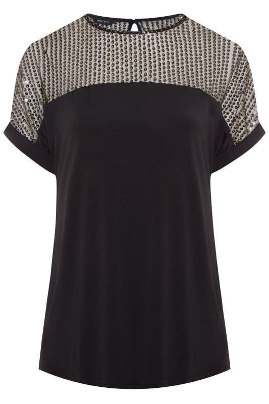 Black Sequin Sparkle Top