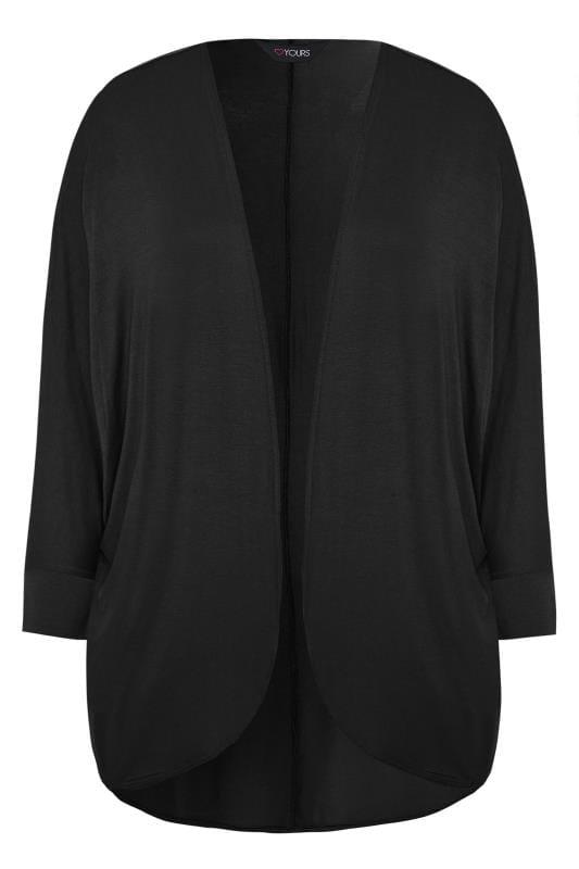 Black Short Cocoon Cardigan