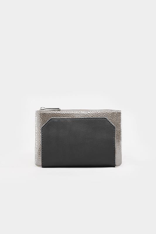 Geldbörse in Metallic-Optik - Schwarz-Silber