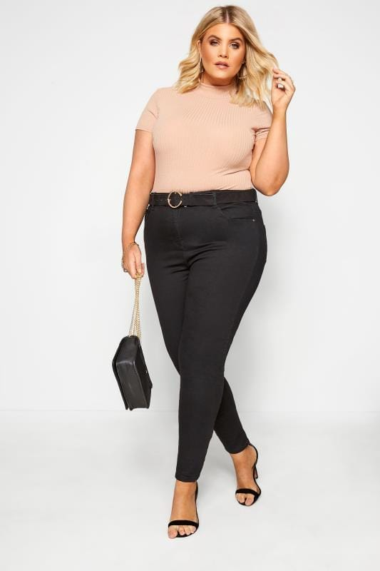 Plus Size Skinny Jeans Black Skinny Stretch AVA Jeans