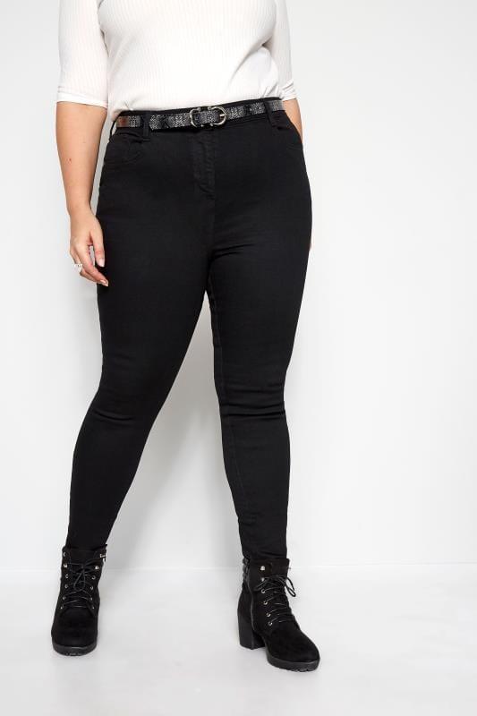 Plus Size Skinny Jeans Black Skinny Stretch AVA Jeans