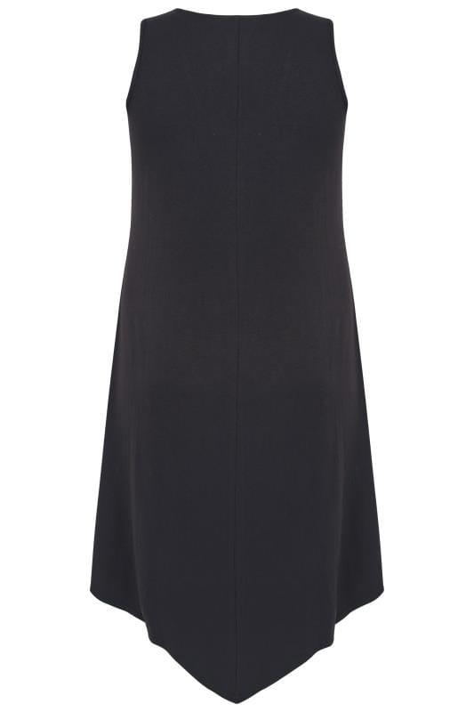 Black Sleeveless Swing Dress