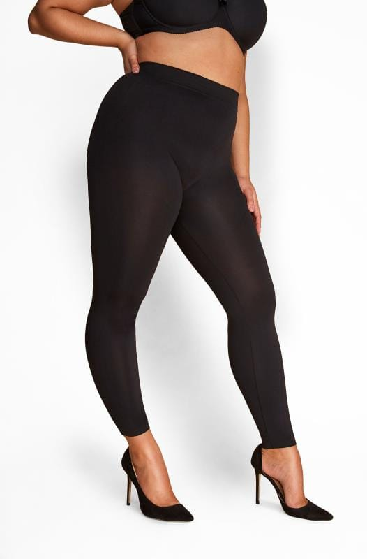 Plus Size Shapewear Black Slimming Control Leggings