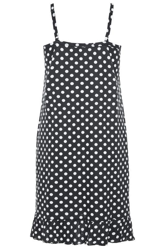 Nachthemd mit Punkte-Muster - Schwarz