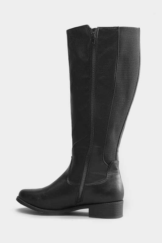 Botas negras altas en ancho especial
