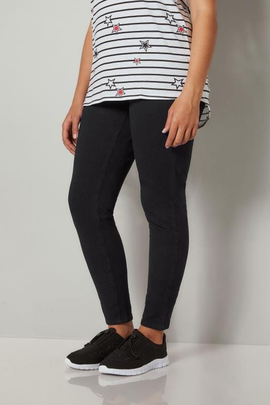 Plus Size Jeggings Black Ultimate Comfort BEST FRIEND Jeggings