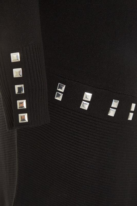 Black Stud Asymmetric Tunic