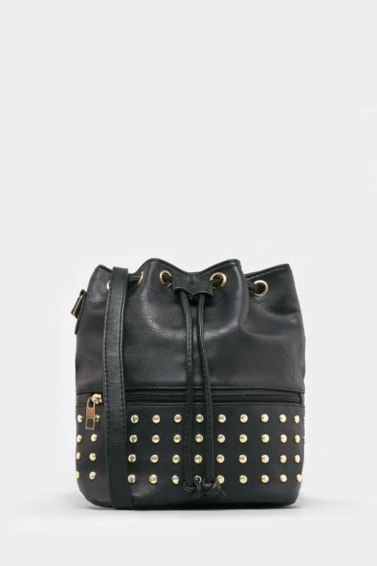 Black Stud Cross Body Bag