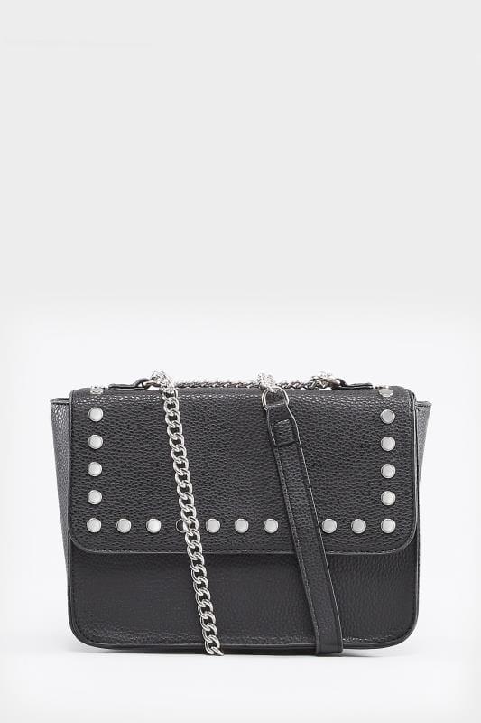 Czarna torebka z nitami