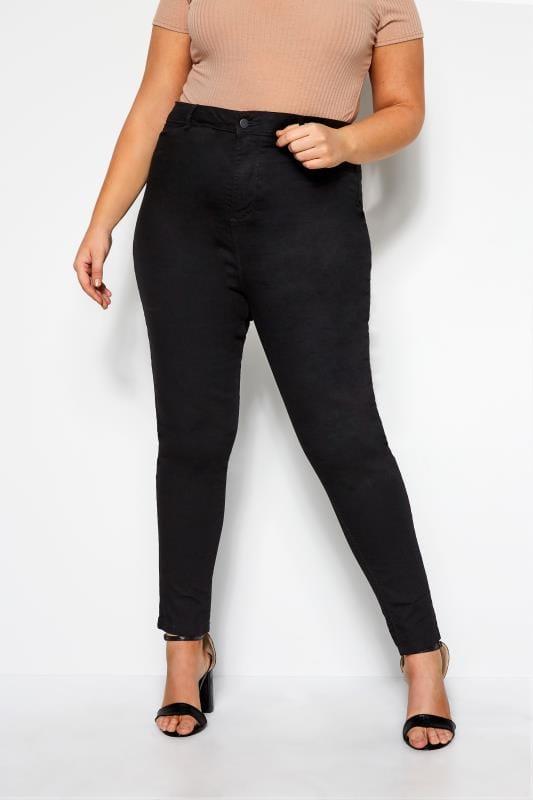 Jeans Skinny Grande Taille Skinny Jean KIM Noir Taille Haute