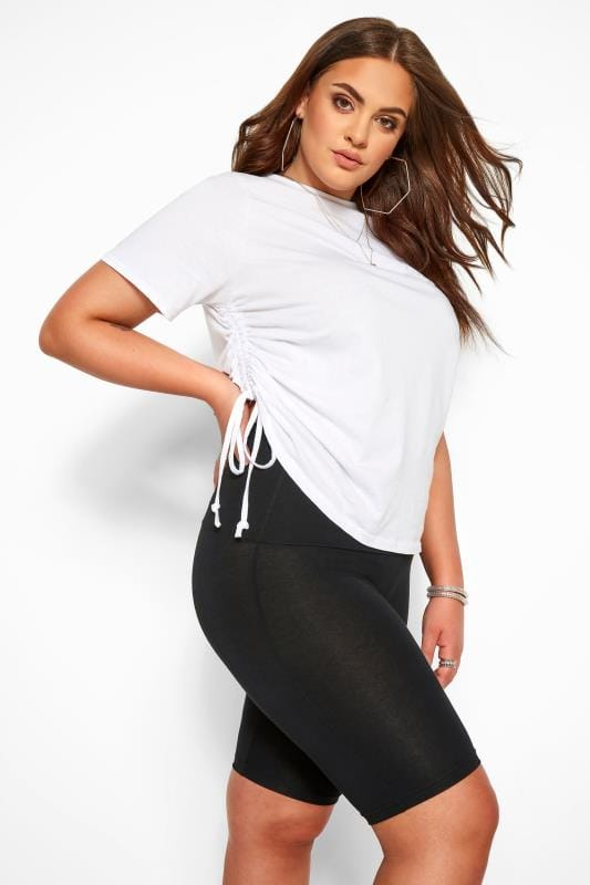 Black TUMMY CONTROL Soft Touch Legging Shorts