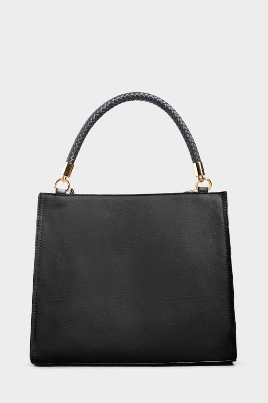 Black Tassel Handle Tote Bag