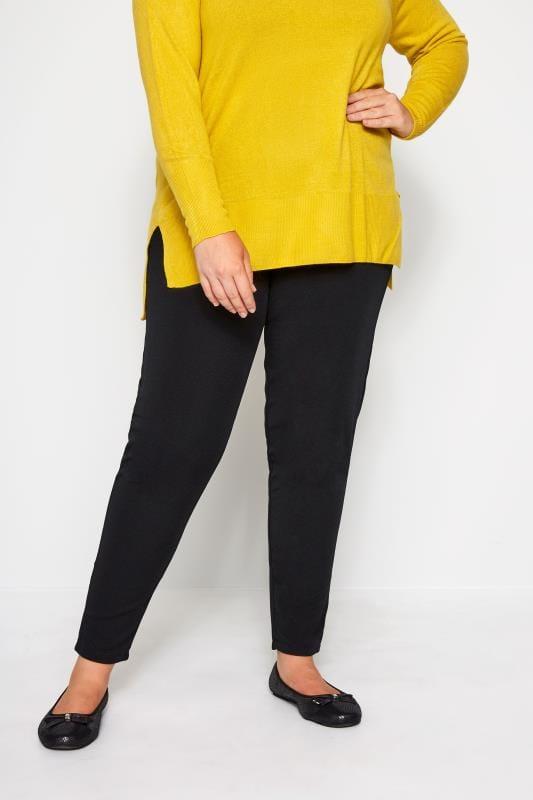 Große Größen Haremshosen Schwarze Haremshose aus Jersey