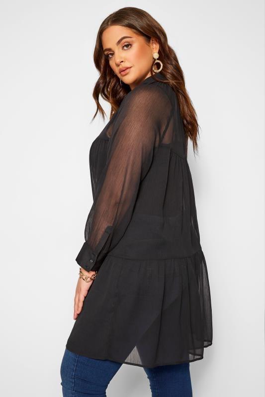 Tunique femme à manches longues Noire originale et à